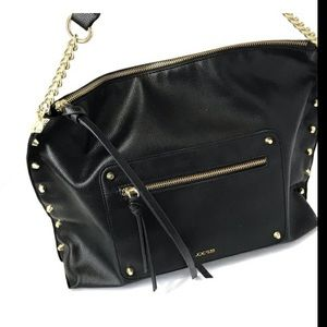 Joes black tote bag with gold chain NWT